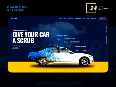 Car wash website uidesign webdesign carwash car adobe photoshop figma ui