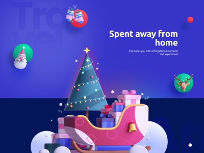 Holiday Means to Me! 3d design illustration ui figma