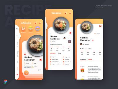 Recipe App Concept cooking app food app vector illustration application figma app ux  ui ui