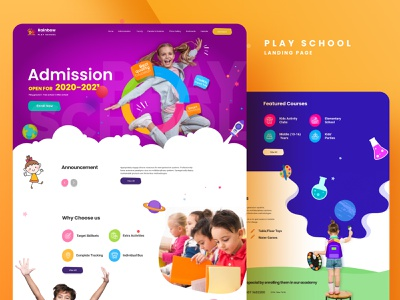 Kids Play School Template online education education ui website design uidesign design figma