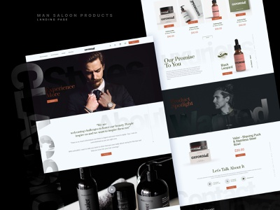 Hair & Beauty Man Salons Products product page salon beauty man products webdesign landingpage uidesign design figma
