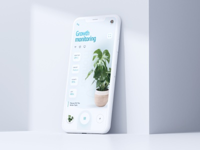Plant monitoring system app system monitor plant app design uidesign app application design ui figma