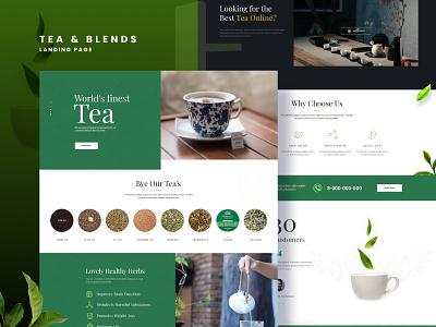 Tea & Blends - Landing Page ecommerce design tea landingpage homepage ecommerce ux design ui figma