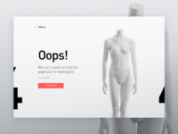 Daily UI 08 — 404 Page