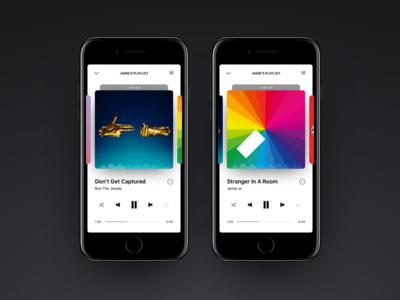 Daily UI 09 — Music Player music player ux ui daily ui