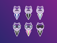 Purple Squirrel – Stickers Illustrations