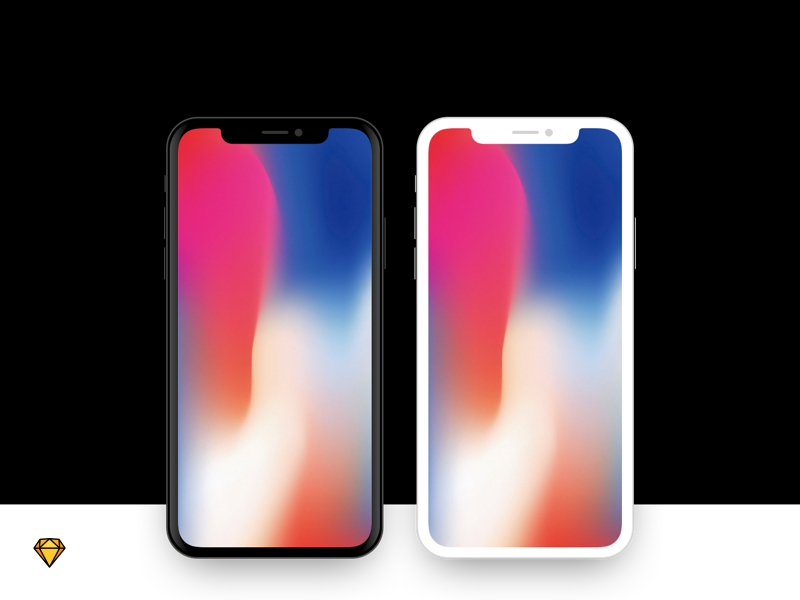 iPhone X - Flat Device Mockup mockup sketch free download iphone x