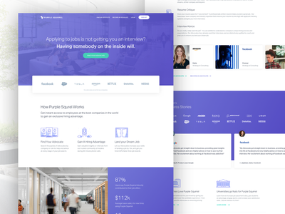 Purple Squirrel – Landing Page digital design graphic design landing page web design