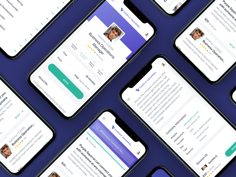 Purple Squirrel - Mobile Web App Thumb app design product design web design web app mobile web