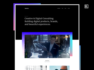 Baseline - Agency Site (WIP) los angeles agency digital design graphic design landing page web design