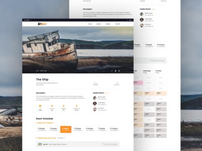 Escape Room - Booking Page web app booking los angeles agency digital design graphic design landing page web design