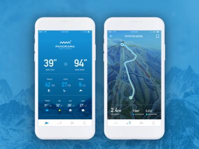Panorama Ski Resort App onboarding on boarding mobile app design mobile design design ios design app design