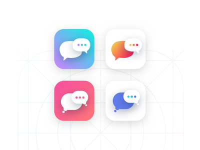Chat App Icon ios app icon uxui ux design ui design visual design statistics design stats dashboard analytics