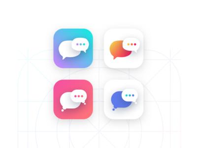 Chat App Icon ios app icon uxui ux design ui design visual design statistics design stats dashboard analytics