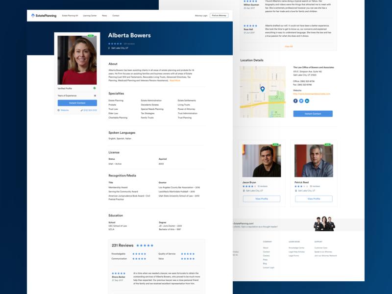 Estate Planning  - Product Page website design company web app design web app website design website product branding digital design web design design ux ui product design