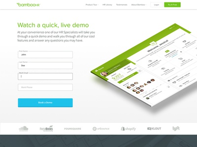 Demo Signup Page