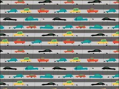 TrafficJam trafficjam surfacepattern picturebook children illustration children book