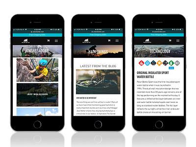 Polar Bottle Website iphone waterbottle woocommerce wordpress website ecommerce iphone