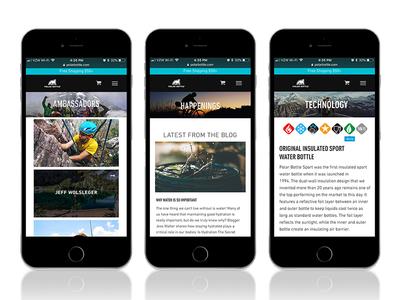 Polar Bottle Website iphone