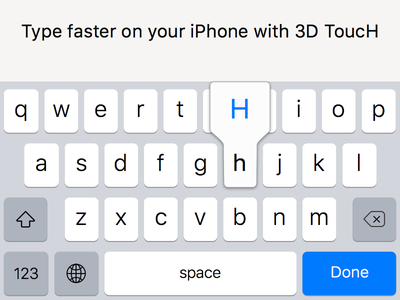 Use the Force Touch to quickly type CAPS on the keyboard 6s iphone6s keyboard apple ios9