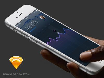 UI Sketch freebie sketch ui graph download free statistic ios app application freebie iphone apple