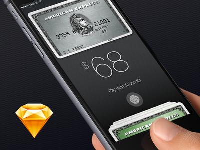 Banking App UI Concept Sketch Freebie touchid apple card credit bank ios freebie pay sketch app ui payment