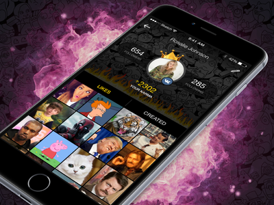 Lemon App User Profile russia moscow profile ux mobile memes jokes ios interface fun application app