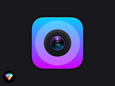 iOS Camera Icon Sketch Freebie freebie sketch download app icon lens camera icons ios