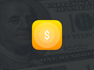 Coin icon for finance application money apple ios icon app application coin