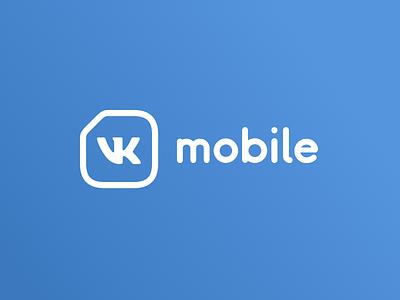 VK Mobile Brand Logo logo brand vkontakte vk operator mvno mobile communications