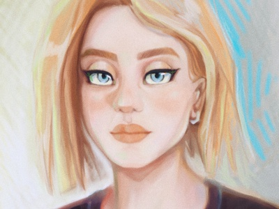 What do you see in her eyes? girl gift feelings illustration drawing colorful digital