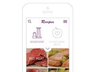 Recipe Category Mobile Mockup
