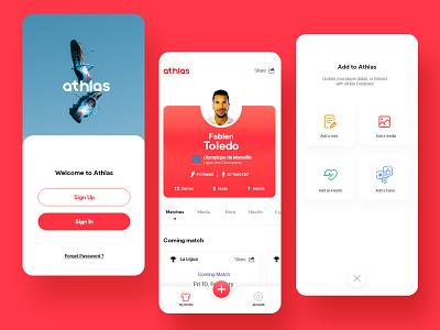 Athlas UI - In Progress ux mobile app mobile uidesign uxui