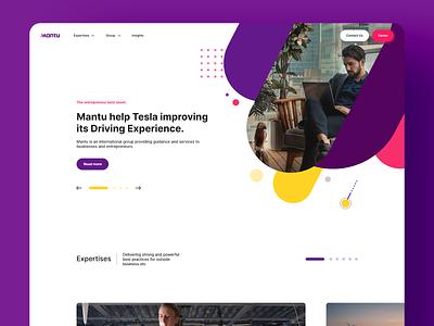 Mantu Global Website interaction web ux webdesign