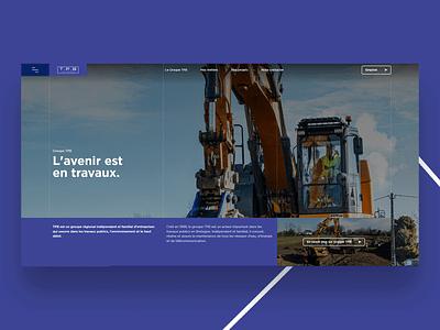 Groupe TPB - BTP Website uxui btp webdesign web