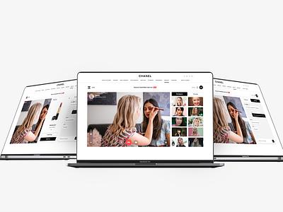 Inspiration for a Chanel Web App design webdesign uxui