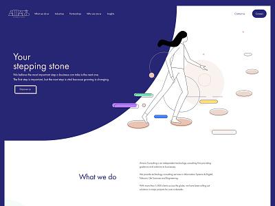 Amaris Consulting new website design consulting webdesign design illustration ux web
