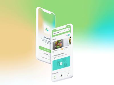 Elemental - Food Ordering App food app food mobile app mobile design ux webdesign uxui