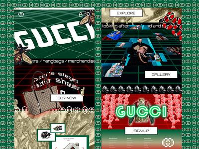 90's Web Challenge - Gucci retro design userinterface challenge website retro gucci web ui design