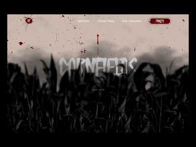 Cornfields - Mocktober 2020 landing page design website mockup spooky concept horror halloween 2020 mocktober