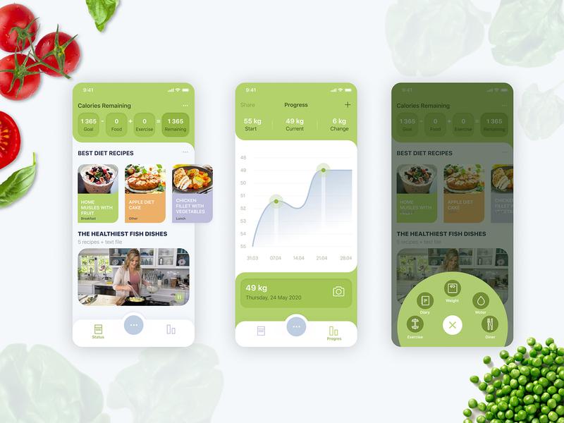 Meal Tracker App tracker nutrition meal ux ui design app
