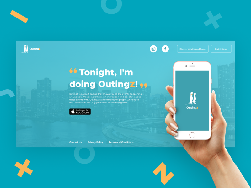 Outingz - Website&CMS figma admin branding webdesign website web manage flat ux ui minimal