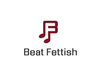 Beat Fettish - Final Logo social media effendy ali logo logos music melody notes musical b f negative initials producers songwriters products social media negative space