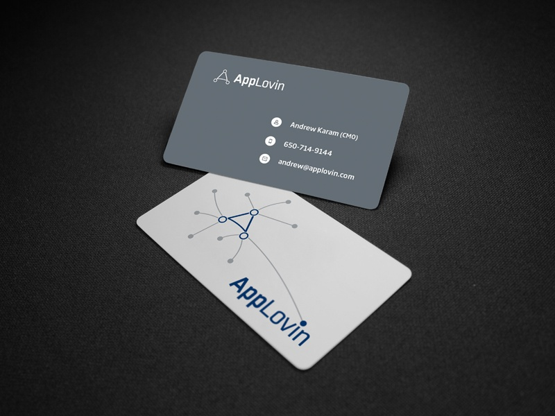 Applovin Business Card  apploving business card visiting card print ali effendy app ios measurable advertisers platform target audience print media