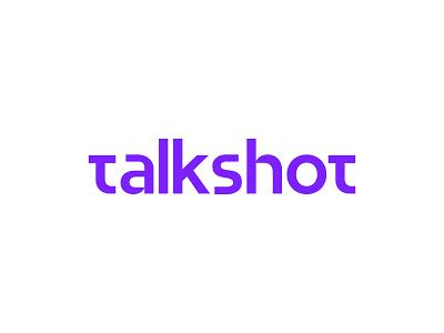 Talkshot Logotype app cricket psl type typography app logo branding san serif font logo talkshot wordmark logotype lettering