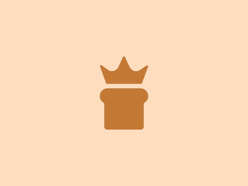BAKINGS crown king brand identity effendy identity design artisan food bakery logo bread baking icon mark symbol branding logo