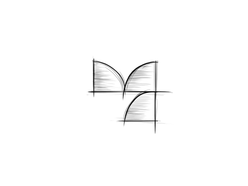 Yen Flowers Process geometric logo abstract logo flourish colorful logo typography yen y logo tulip sketch process mark flower logo geometric pattern flower shop floral design brand identity branding symbol colorful effendy