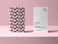 Yen Flowers Business Card y logo business card mockup vivid colorful logo symbol tulip logo flower logo print stationery logo geometric effendy branding abstract brand identity pattern design business card