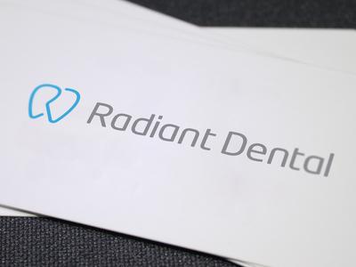 Radiant Dental radiant dental dentist clinic tooth glowing ali effendy logo monoline initials canada