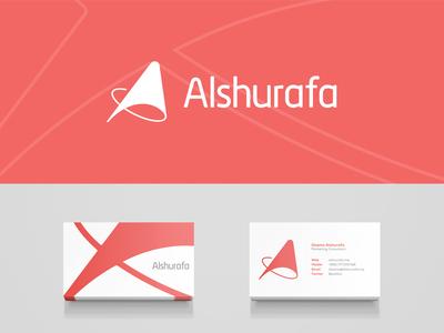 Alshurafa logo effendy ali identity marketing business card motivational speaker consulting inbound marketing digital marketing